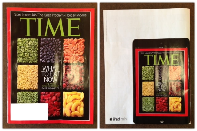 Apple Puts iPad Mini Ad on the Back of Time Magazine and The New Yorker [Images]