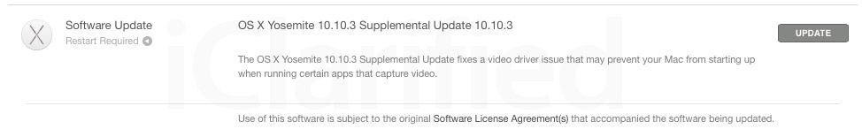 Apple Releases OS X Yosemite 10.10.3 Supplemental Update to Fix Video Driver Issue
