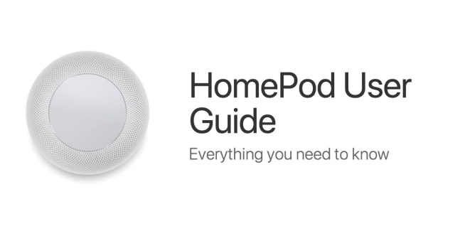 Apple Posts HomePod User Guide