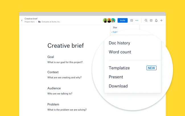 Dropbox Now Lets You Create Your Own Paper Templates