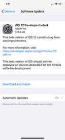 Apple Releases iOS 12 Beta 4 [Download]