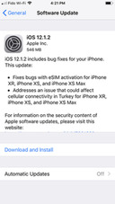 Apple Releases iOS 12.1.2 With eSIM Fixes [Download]