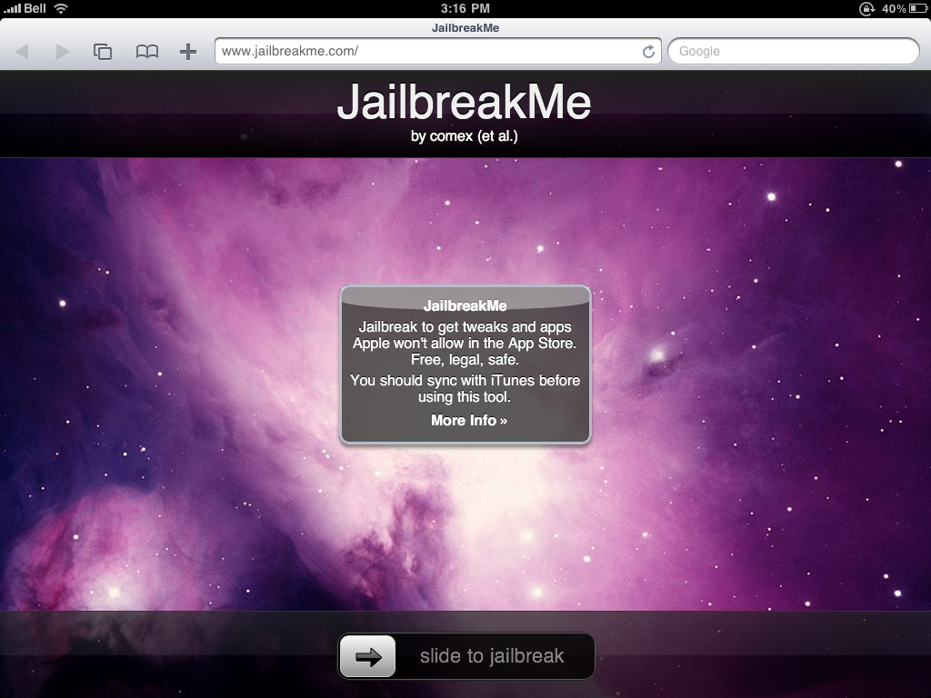 How to Jailbreak Your iPad Using JailbreakMe [3.2.0, 3.2.1]
